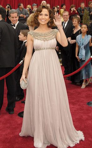Jen relies on a Marchesa gown to bring glamour to the 79th Annual Academy Awards.