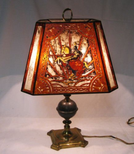 Handel reverse painted lamp