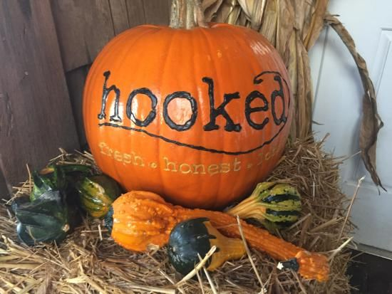 Pumpkin autumn decoration welcoming you to #Hooked, Ocean City, MD
