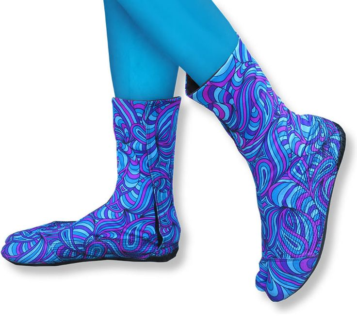 Ninja Boot : Blue Splash  Walk like a Ninja with these split toed cotton booties, based on traditional Japanese Jigatabe design. Feel barefoot whist wearing shoes. Perfect for dancing, circus and performing.