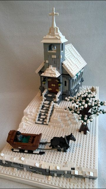 Hi everybody! I would like to show you my latest MOC, a Christmas Church. Untitled by Heksu, on Flickr Untitled by Heksu, on Flickr I´m proud of those snowy...