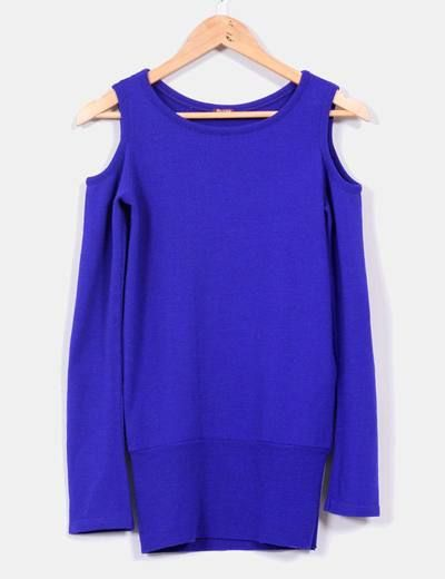 Vestido azul klein punto Bershka
