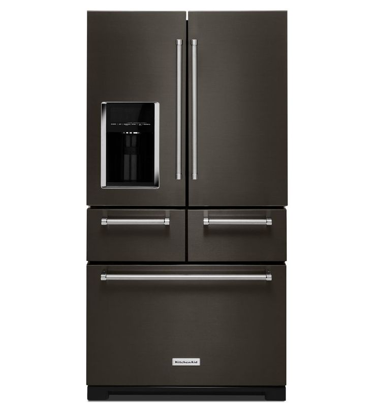 Black Stainless 5 Door Refrigerator By Kitchenaid Black