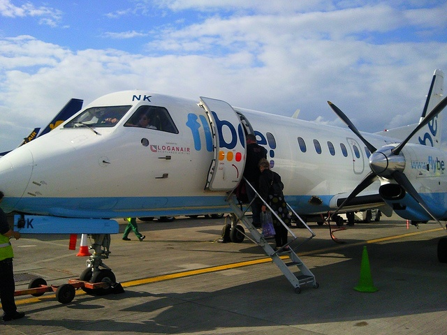 Flybe plane for my flight to Shetland by Karen V Bryan, via Flickr
