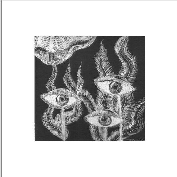 Miralgas  Ilustración grattage