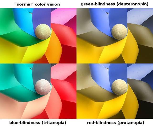 Нарушения цветовосприятия   Дальтонизм может быть частичным (связанным с отдельными цветами) или полным (связанным со всеми цветами). Полный дальтонизм встречается очень редко и, как правило, в сочетании с другими серьезными врожденными дефектами глаз. Что касается частичного, то существует несколько разновидностей подобной патологии: Протанопия - нарушение восприятия красного цвета - это наиболее частый случай дальтонизма. Воспринимаемый спектр укорочен с красного конца. Красный цвет…