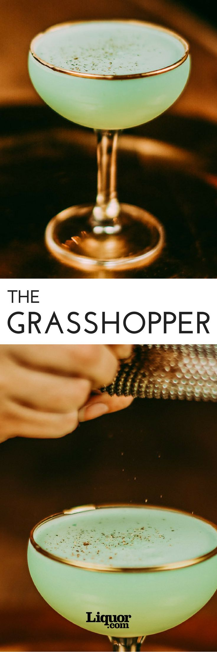 The Grasshopper cocktail is a minty classic that is better than your traditional dessert.