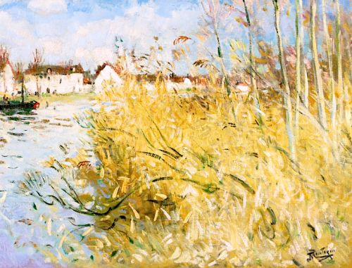 Pierre Eugène Montezin 1874 - 1946 L'automne À Misy-Sur-Yonne
