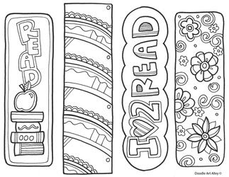 graphic relating to Free Printable Bookmarks to Color Pdf titled Coloring Bookmarks No cost Printable mission-extremely hard