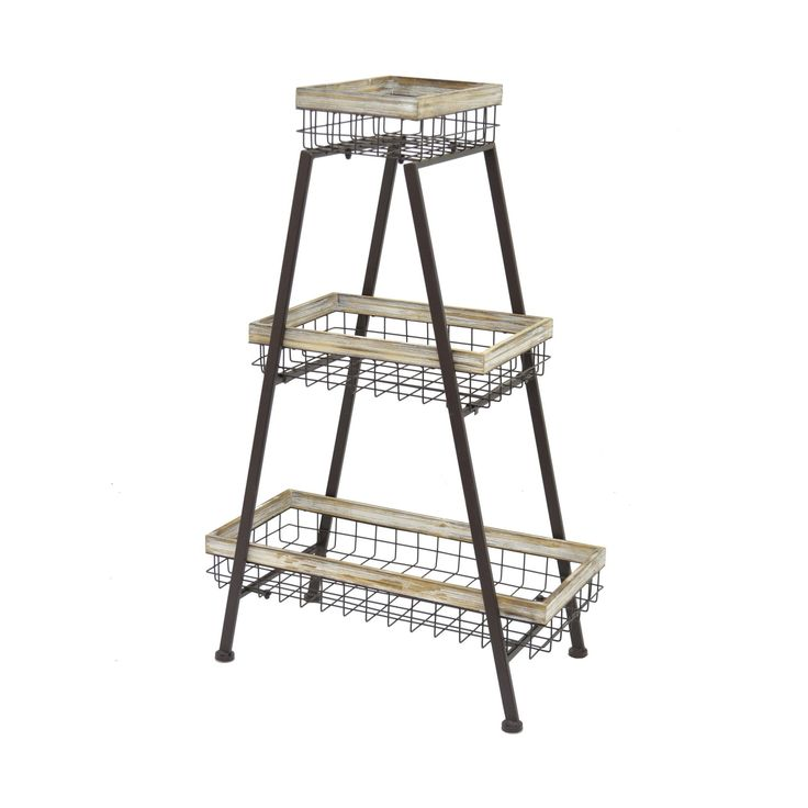 This uber-functional and truly stylish Pyramid Three-Tier Basket Rack is just what your office or craft room has been craving. Easy to move and offering ample storage, this piece is comprised of an ang...  Find the Pyramid Three-Tier Basket Rack, as seen in the Storage Clearance Collection at http://dotandbo.com/collections/end-of-summer-sale-storage-clearance?utm_source=pinterest&utm_medium=organic&db_sku=109155
