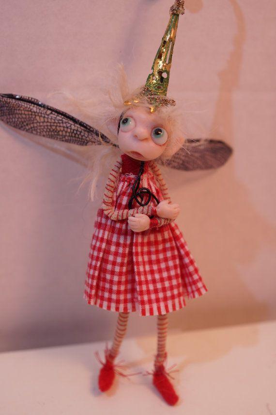 ooak poseable pissed off Pixie fairy 204 fairy by DinkyDarlings