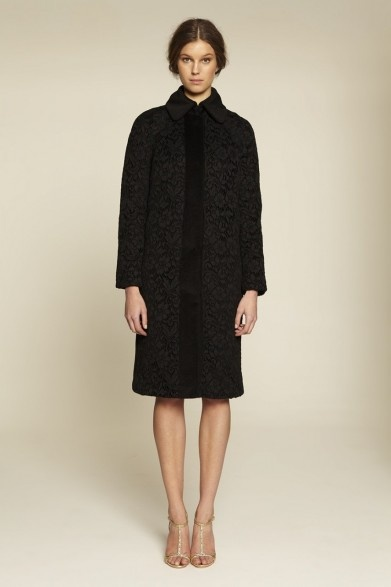 Collette Dinnigan Lace & Wool Coat