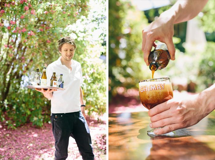Flemish Flavours' chef, Wim serving a selectin of Belgian beers. Advertising Photography by Evangeline Aguas
