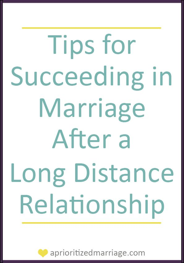 Eat Drink & Be Mary: Tips for Succeeding in Marriage after a LDR
