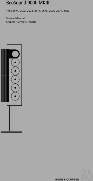 Bang & Olufsen Beosound-9000 mk3 (type 2571 , 2572 , 2573 , 2574 , 2575 DOWNLOAD