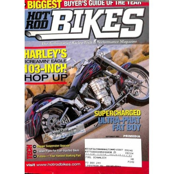 Hot Rod Bikes September 2004 With Images Bike Magazine Hot