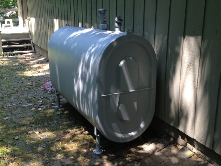 Painted Oil Tanks Not Only Look Better But Also Makes Them Last Longer In Peekskill Ny Installed By Barrier Contracting Installation Peekskill Outdoor Decor