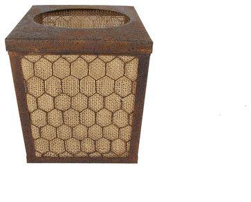 Rustic Burlap Tissue Box farmhouse-tissue-box-holders