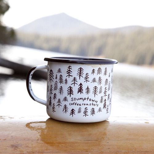 coffeentrees:  Well look who is back, right in time for #campcoffee season. Our new enamel mugs are here, ready for canoe camping, bike packing or your front porch morning cup. Link in profile. by stumptowncoffee