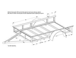 Red Wing Steel Works 5x8 utility trailer plans top rail assembly