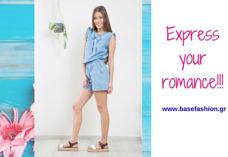 ❣️EXPRESS YOUR ROMANCE❣️ Ολόσωμο τζιν σορτς με βολάν! 🛒ΤΙΜΗ: 24.99€ http://www.basefashion.gr  #fashionista #instyle #fashionaddict #shorts #totallook #passionforfashion #fashionlover #fashionablelife #newcollection #stylediary #spring #άνοιξη #summer #shoppinstar