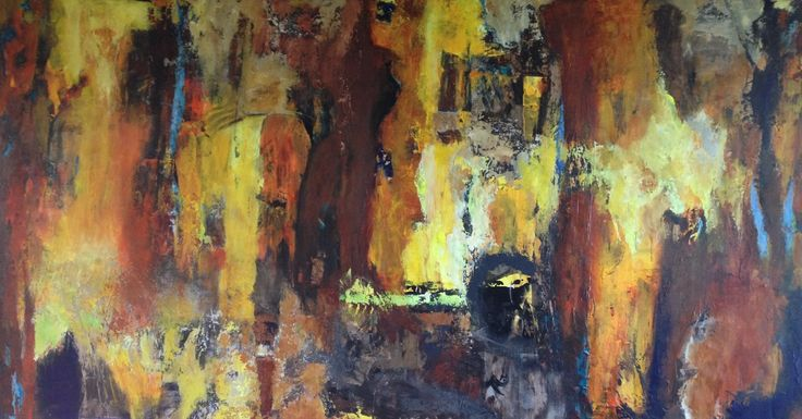 Dahab Village, painted by Gitte Klausen and Henrik Hytteballe, / 200 Cm X 110 Cm