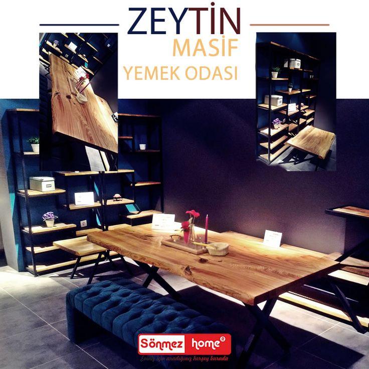 Evinize değerin yanında doğallık da katacak bir kitaplık Zeytin Modern Masif Yemek Odası sizlerle! #Modern #Furniture #Mobilya #Zeytin #Doğal #Masif #Ağaç #Yemek #Odası #Sönmez #Home