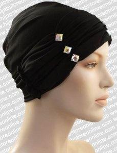 Turban Hat - Crystal Ruffles - Black, myös valkoisena olisi ihana.  hijabstoreonline.com -sivulla toimitusaika on alle viikon