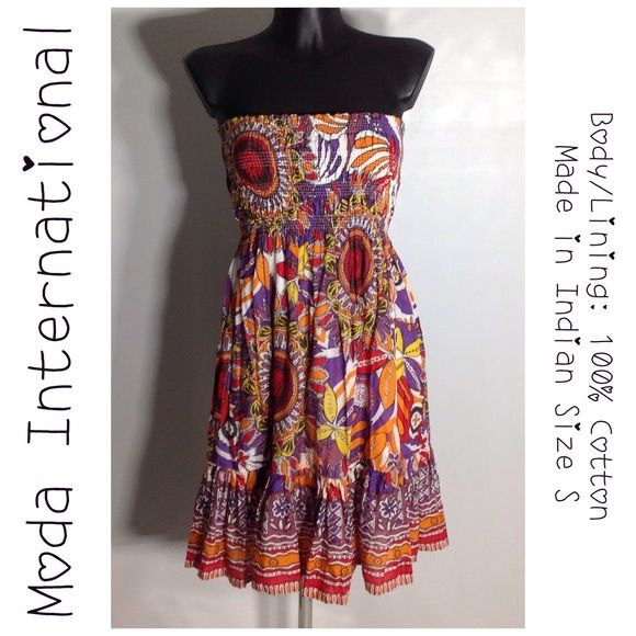 I just discovered this while shopping on Poshmark: Moda International Tube Top Dress - Size Small. Check it out!  Size: S