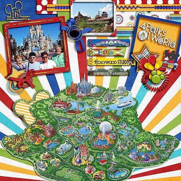 Magic Kingdom Fun - MouseScrappers - Disney Scrapbooking Gallery