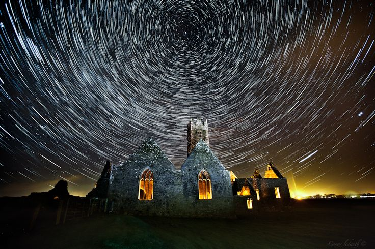 Pretty Cool image of star trails and light painting by ...