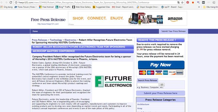 http://freepr101.com/view/224466/Robert_Miller_Recognizes_Future_Electronics_Team_for_Sponsoring_Microchip_MASTERs_Conference