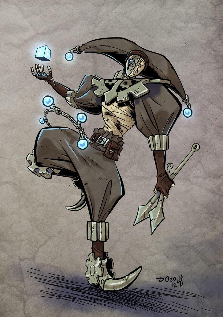 Anime Jester Characters : Clockwork jester by weremole viantart on deviantart