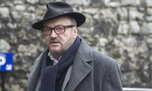 George Galloway in London, Britain