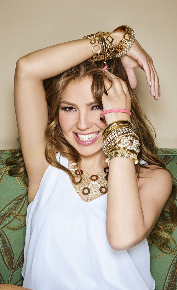 Thalia always brings the bling. These shiny, sparkly and super stylish bangles, bracelets and necklaces from her  Thalia Sodi collection are perfect for layering or wearing alone. But if you take a page out of Thalia's book —the more, the merrier!