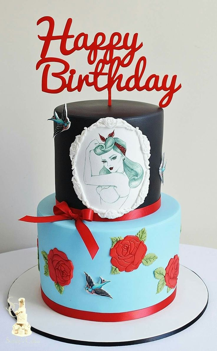 Best Rockabilly Images On Pinterest Rockabilly Wedding - Rockabilly birthday cake