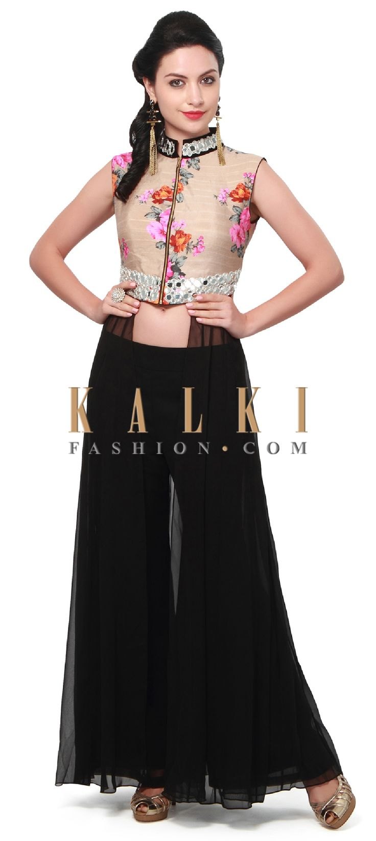 Buy Online from the link below. We ship worldwide (Free Shipping over US$100). Product SKU - 312472.Product Link - http://www.kalkifashion.com/black-anarkali-suit-adorn-in-embroidered-bodice-only-on-kalki.html