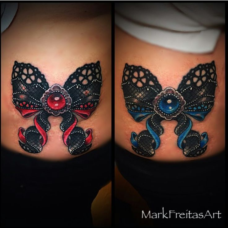 Bow Lace tattoo