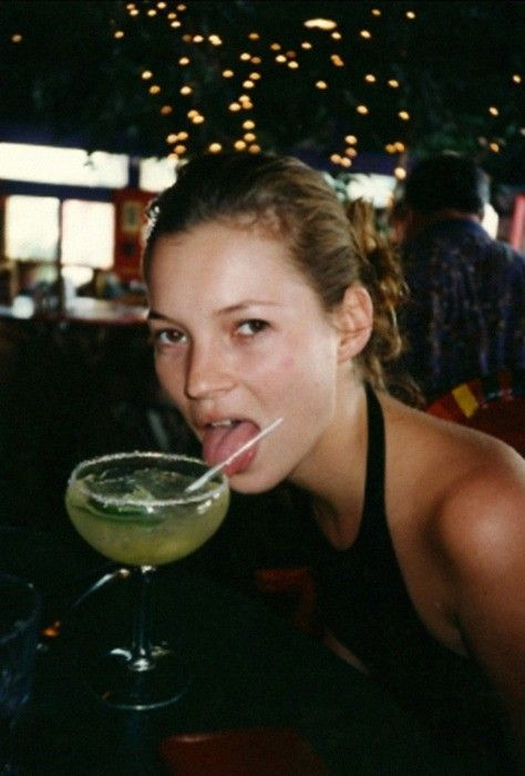 #katemoss and margarita. Saw this photo in a magazine and thought it was so raw…