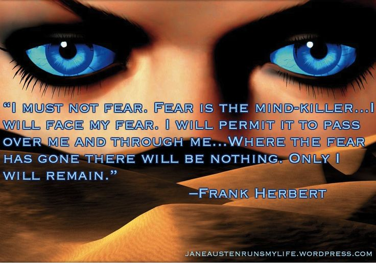 I Must Not Fear! Frank Herbert Dune
