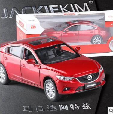 新しいマツダ6アテンザ1:32オリジナル車モデル子供のおもちゃプルバック音光シミュレーションスポーツカー赤白誕生日ギフト