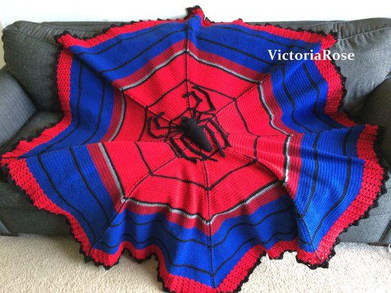 Crochet Spiderman Blanket Pattern Only