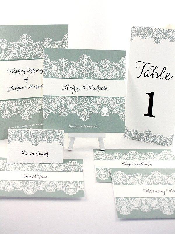 Michaela Collection - Elegant Invitations - Themed Invitations   Red Wax Invitations