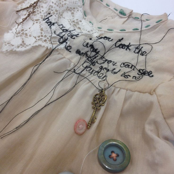Katie Whittle: textiles, mixed media, vintage paper, florals, stitch, appliqué, buttons, lace. ALevel Textiles