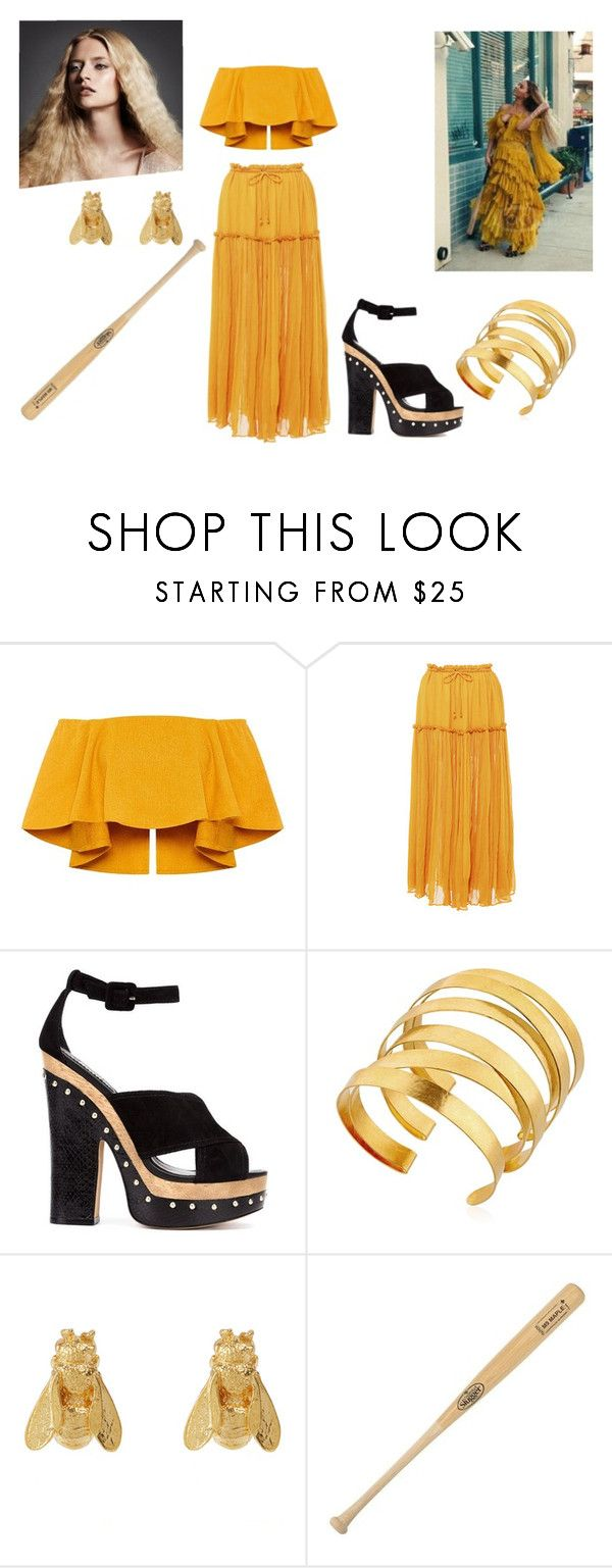 """Beyonce hold up Halloween costume idea"" by djj0710 ❤ liked on Polyvore featuring Apiece Apart, Alexandre Birman, Hervé Van Der Straeten, Alex Monroe and Louisville Slugger"