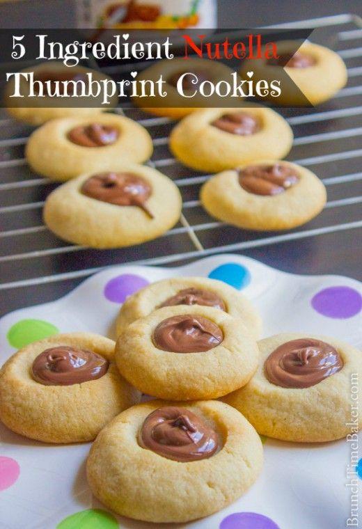 Nutella Thumbprint Cookies Recipe | Recipes | Pinterest | Cookies ...