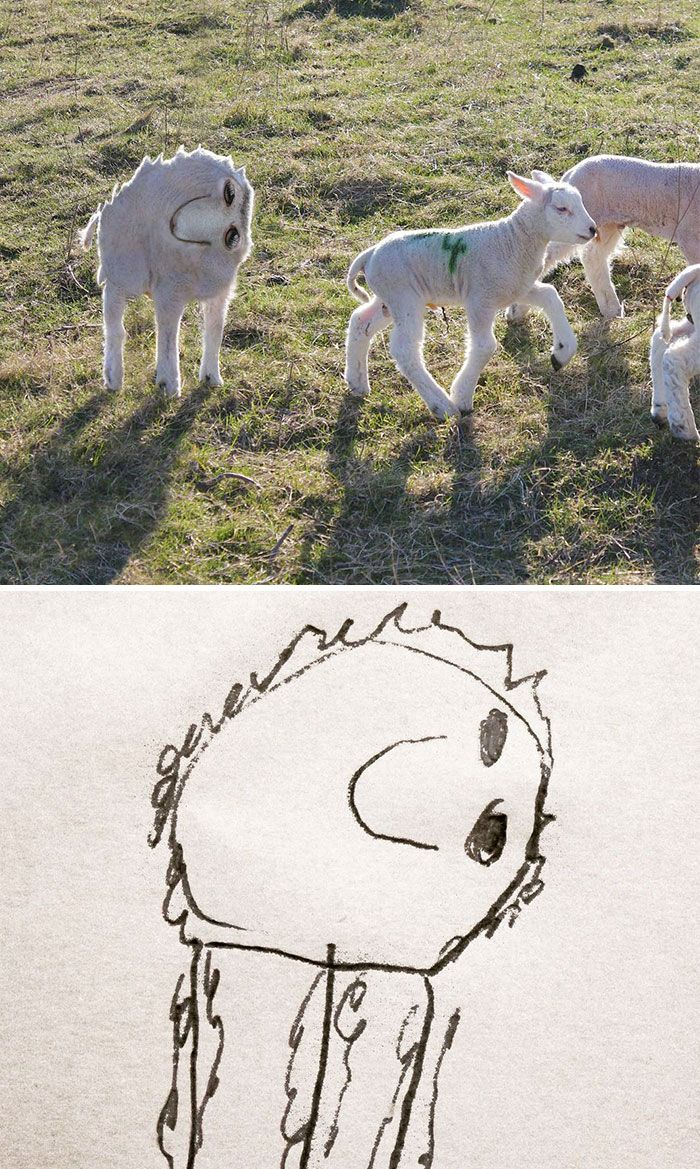 Dad Turns His 6-Year-Old Son's Drawings Into Reality And The Results Are Both Creepy And Hilarious (10+ Pics)