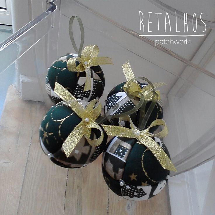 # Encomende - Disponíveis Ref.: BL_NT_01 Bolas de Natal de 60mm / #Christmas Handmade