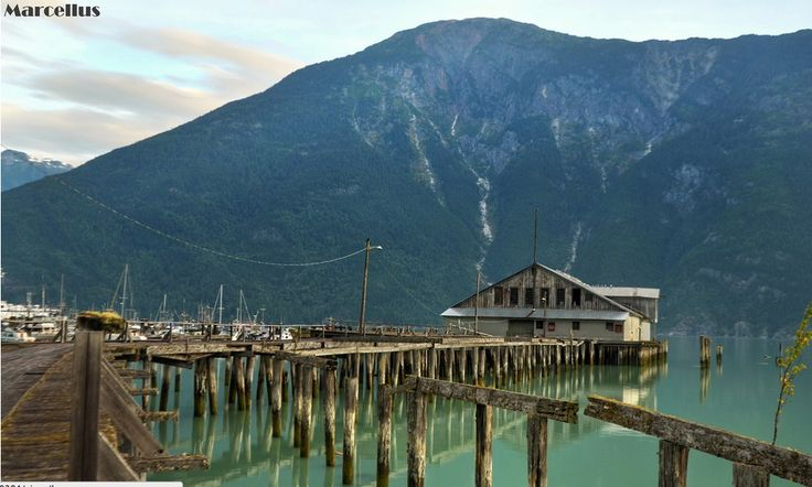 This abandoned wharf in the Bella Coola Valley, British Columbia: | via Chistine Fick