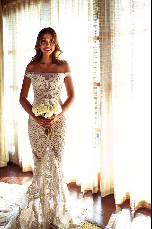 to the pto the perfect lace wedding gown and to the women who will wear it... walking on sunshine:)